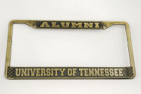 Gold University Of Tennessee Alumni License Plate Frame